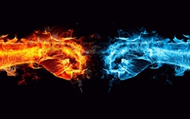 Ice and Fire showdown Wallpapers Pictures Photos Images