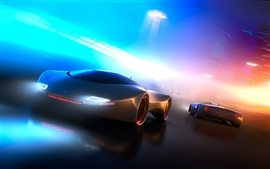 Preview wallpaper Neon light concept car