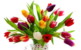 Preview wallpaper Romantic gifts, tulips