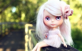 Preview wallpaper Beautiful toys little girl