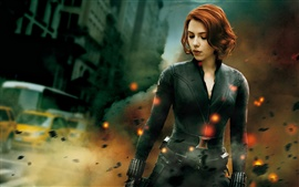 Preview wallpaper Black Widow in The Avengers 2012