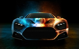 Preview wallpaper Creative space planet pattern car