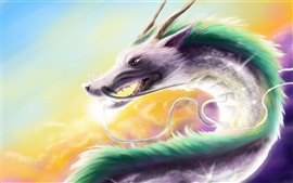 Creative watercolor fantasy dragon