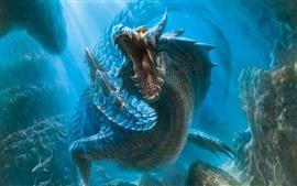 Dragón en el mundo submarino
