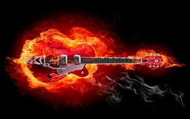 Preview wallpaper Fire guitar creative