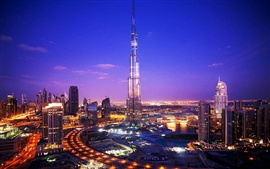 Preview wallpaper Night City Dubai