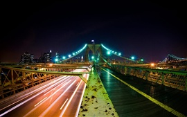 Night city bridge