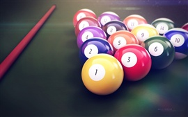 Preview wallpaper Snooker colors