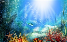 Preview wallpaper Underwater world corals