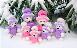 Wool dog toys photo