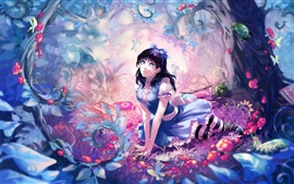 Preview wallpaper Anime girl fairy forest