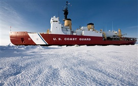 Antarctic research vessels