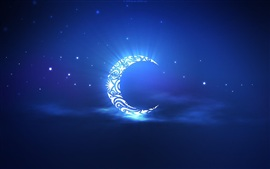 Preview wallpaper Artistic creation, the crescent moon in the sky