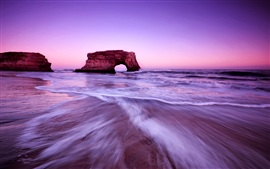 Preview wallpaper Beach sky beautiful purple glow