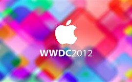 Fondo colorido logotipo de Apple