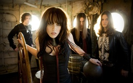 Preview wallpaper Halestorm rock band, Lzzy Hale