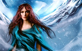 Preview wallpaper Keira Knightley beautiful painting