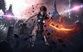 Preview wallpaper Mass Effect 3, Injured female soldier