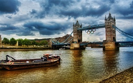 Preview wallpaper Olympics 2012 London River Thames Tower Bridge