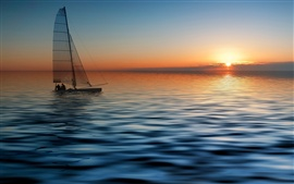 Preview wallpaper Sailboat at the sea