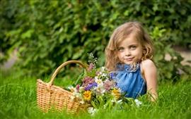 Summer lovely blond little girl