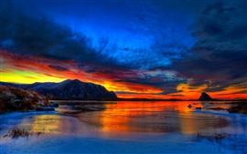 Aperçu fond d'écran la beauté du crépuscule