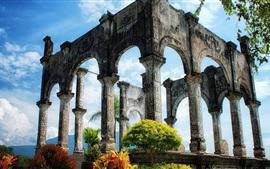 Antigas ruínas do palácio