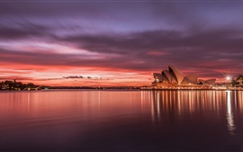 Preview wallpaper Australia Sydney Opera House sunset