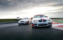 Preview wallpaper BMW M3 E92 Sports car in racing