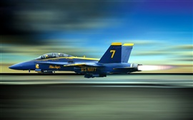 Preview wallpaper Blue Angels, the high-speed flying fighter