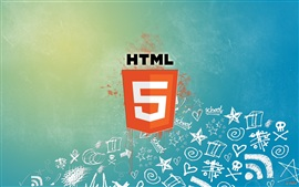Preview wallpaper HTML5 hypertext markup language logo