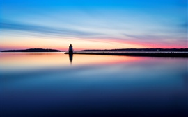Preview wallpaper Lighthouse water reflection in morning