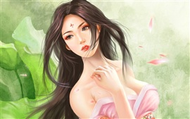 Meticulous painting, classical Asian girl Wallpapers Pictures Photos Images