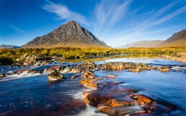 Preview wallpaper Scotland natural scenery, mountains river sky rocks