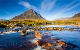Scotland natural scenery, mountains river sky rocks