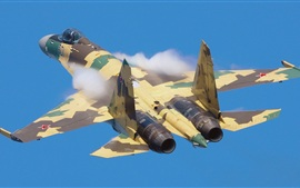 Preview wallpaper Su-35 fighter flight