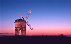 Preview wallpaper Sunset windmill