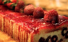 Sweet food, strawberry cake dessert