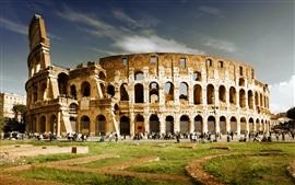 Aperçu fond d'écran Les attractions touristiques, le Colisée, Italie
