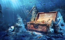Preview wallpaper Treasures lost in the bottom of the sea