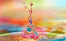 Preview wallpaper Water droplets of the moment, bright colorful