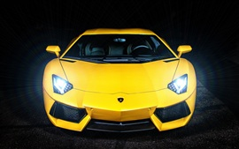 Yellow color Lamborghini Aventador LP700-4 Wallpapers Pictures Photos Images