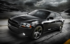 Preview wallpaper 2012 Dodge black car