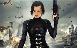 Preview wallpaper 2012 movie Resident Evil 5: Retribution, Milla Jovovich