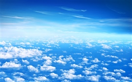Beautiful clouds, blue sky, white clouds