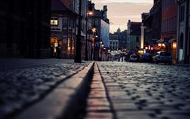Noite da cidade de rua