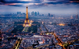 Paris, the beautiful city night scene