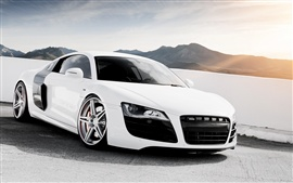 Preview wallpaper Audi R8 V10 white supercar