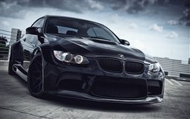 Preview wallpaper BMW M3 black car