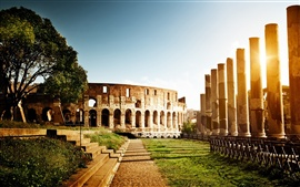 Preview wallpaper Colosseum, Italy, architecture, ruins, sun